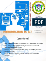 Introduction to ICT E.T.