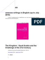 Khalid Chraibi Selected Articles in English Up to July 2010