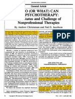 What Can Do Psychotherapy