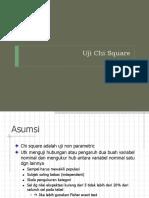 Biostatistika 10 Uji Chi Square