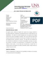 PROGRAMA DEL CURSO TÉCNICAS DE REDACCIÓN
