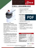 Ficha Tecnica Amasadora KN15