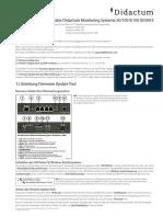 Firmware Update Didactum Monitoring System 50/100 II/100 III/500 II