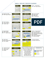 2010_2011calhoun Academy Yearly Tentative Calendar
