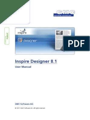 InspireDesigner-User_Manual-V8 1 0 2 pdf   Input/Output