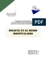 Higiene en El Medio Hospitalario