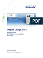 InspireDesigner Release Notes V8.1.41.0 GA