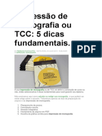 5 dicas tcc
