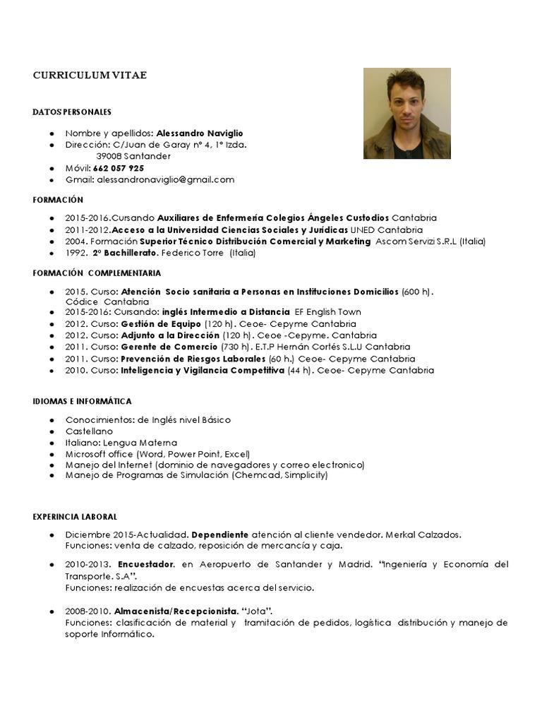Único Custodio Objetivo Del Curriculum Vitae Bosquejo - Ejemplo De ...