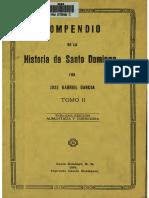 Compendio de La Historia de Santo Domingo - Jose Gabriel Garcia 1894