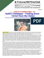 Testimony of a Former Hindu