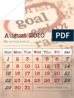 Activity August 2010 Goals