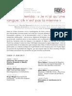 Programme Derrida