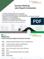 Business meeting Eeuwigdurende Erfpacht Amsterdam - 9 juni 2017