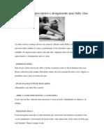 Exercícios de Aquecimento e Alongamento Para Baby Class
