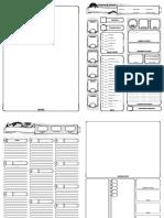 Character Sheet - A4 Center Fold