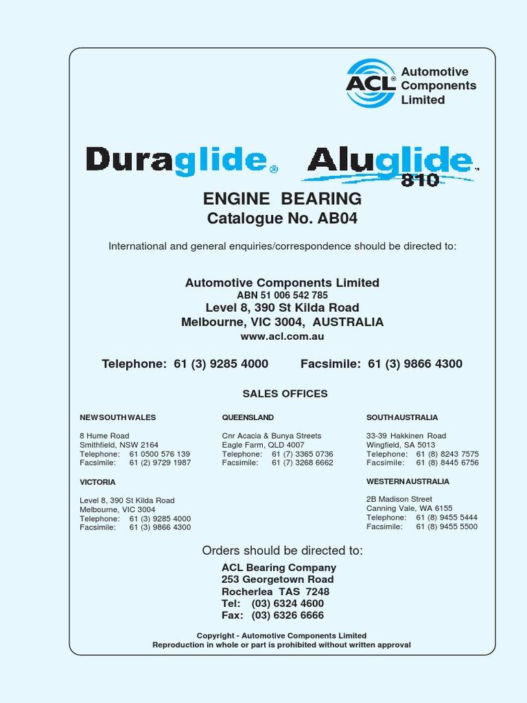 Camshaft Cam Bearing set Holden V8 253 308 Red Blue 5.0L 5.7L EFI STD 5C5146