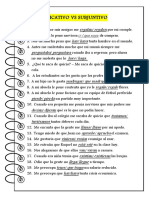 Ejercicios - Presente Indicativo vs. Subjuntivo 2