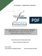 Névine, Lahlou - Reconnaissance et mise en oeuvre de la vulgarisation juridique en France.pdf