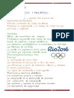 Unidad Didáctica .Los Juegos Olímpicos y Paralímpicos.