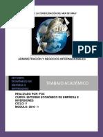 Trabajo Académico de Entorno Económico de Empresa de Inversiones