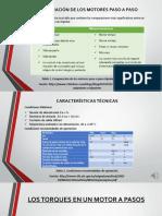 Comparación de Los Motores Paso a Paso y Características Técnicas