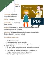 Secuencia Didactica de Poesia.