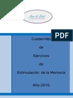 01.- Cuadernillo Parte i - Estimulacion de La Memoria Año 2016 2