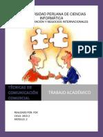 Trabajo Académico de Tecnicas de Comunicación Comercial.