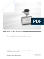 Krohne OPTIFLUX1000 Manual