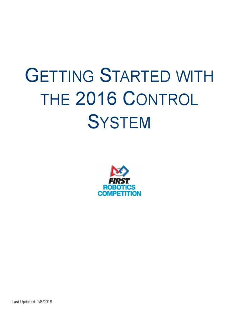 Frc 2016 Getting Started With The Control System Electrical Ti Jaguar Wiring Diagram Connector Theory