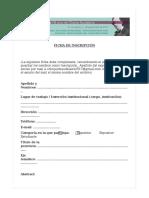 Ficha de Inscripción Baudelaire