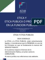 Etica en los servicios Publica