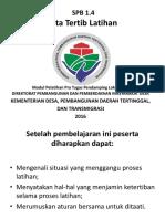 SPB 1.4 Tata Tertib Latihan