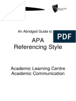 APA Abridged Guide