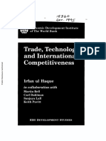 trade, Technology and International competitiveness