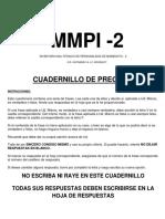 Cuadernillo Mmpi 2