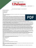 El Peruano - Aprueban La _Directiva Del Sistema de Información Integrado - SII Del SINAPLAN_ - RESOLUCION - Nº 038-2016