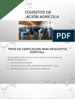 Requisitos de Ventilación Agrícola