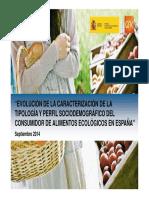 Estudio Perfil Consumidor Ecologico 2014