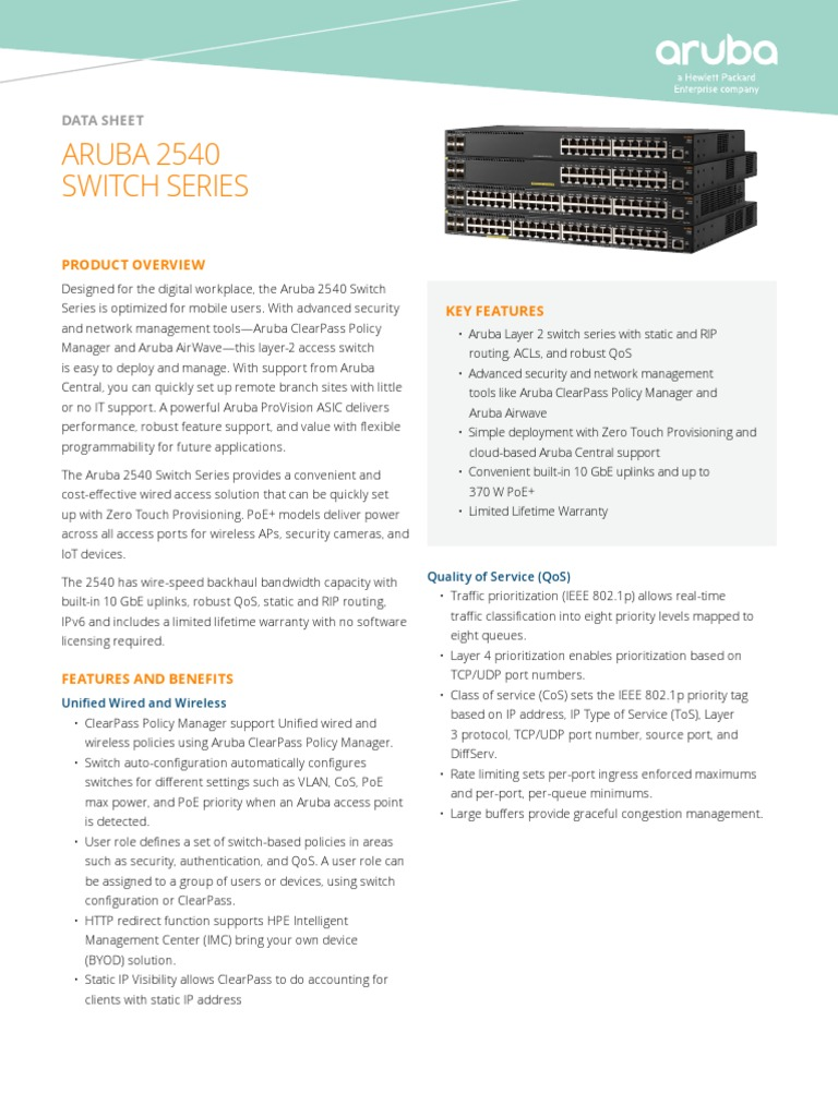 DS 2540SwitchSeries | Radius | Network Switch