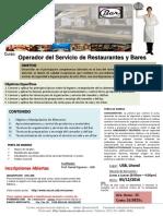 Operador Del Servicio de Restaurantes y Bares