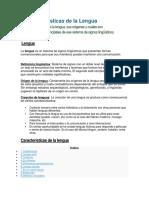 10 Características de La Lengua