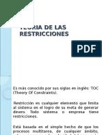 Teoria de Las Restricciones Presentacion