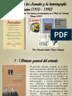 La Escuela de Los Annales y La Historiografía Peruana