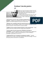 Citate de Abraham Lincoln Pentru Comunicatori