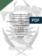 Monografía Problemática actual y desarrollo tecnológico y científico del mundo - Historia universal contemporánea