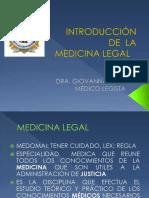 Introducción Medicina Legal Medicina