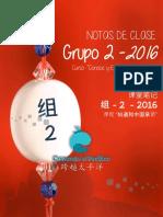 Notas de Clase Grupo 2 - 2016