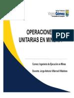 Semana 8, Operaciones Unitarias en Minería.pdf